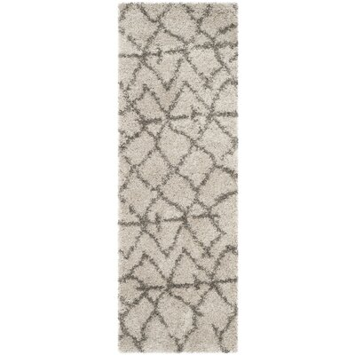 Messiah Taupe/Grey Area Rug Rug Size: Runner 23 x 7
