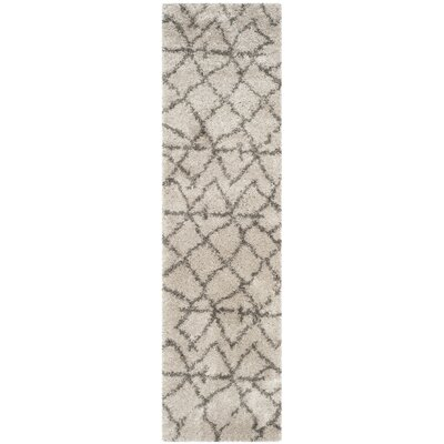 Messiah Taupe/Grey Area Rug Rug Size: Runner 23 x 9