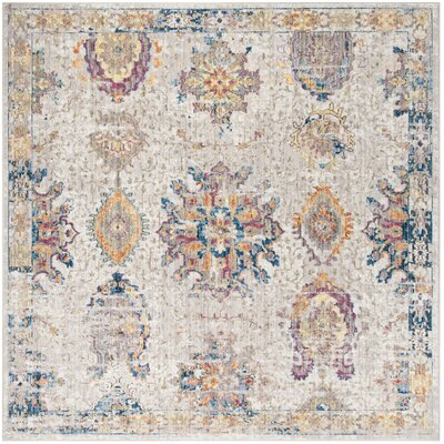 Gardner Light Gray Area Rug Rug Size: Square 7