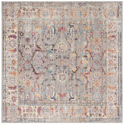 Sahraoui Gray/Light Gray Area Rug Rug Size: Square 7