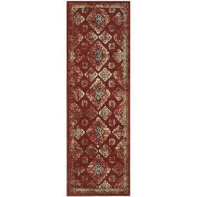 Chauntel Red Area Rug Rug Size: Runner 27 x 8