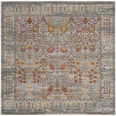 Bernardyn Gray/Multi Area Rug Rug Size: Square 67 x 67