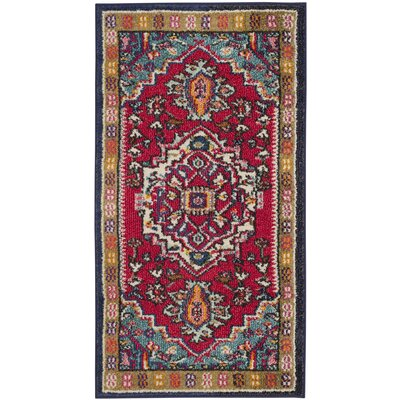 Ward Red Area Rug Rug Size: Runner 22 x 6