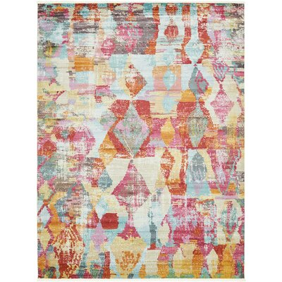 Yearsley Red/Beige/Blue Area Rug Rug Size: Rectangle 10' x 13'