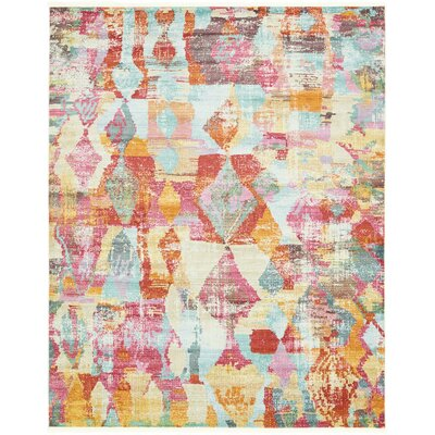 Yearsley Red/Beige/Blue Area Rug Rug Size: Rectangle 8'2