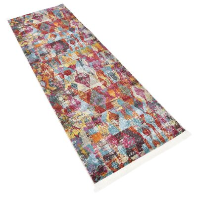 Yearsley Red/Beige/Blue Area Rug Rug Size: Runner 2'2