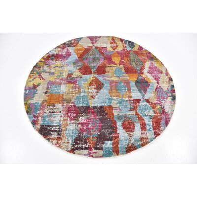 Yearsley Red/Beige/Blue Area Rug Rug Size: Rectangle 4'3