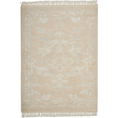 Haddou Hand-Knotted Ivory Area Rug Rug Size: Rectangle 23 x 3