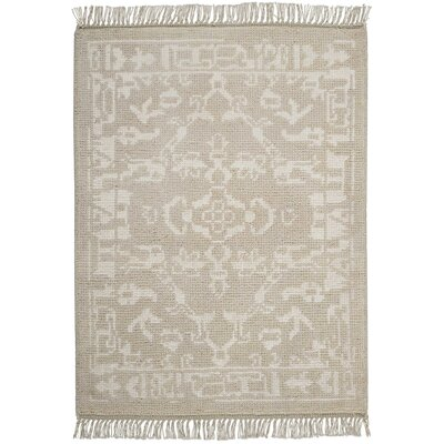 Haddou Hand-Knotted Light Gray Area Rug Rug Size: Rectangle 23 x 3