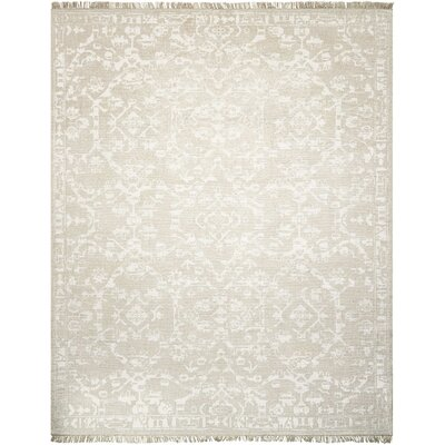 Haddou Hand-Knotted Light Gray Area Rug Rug Size: Rectangle 79 x 99