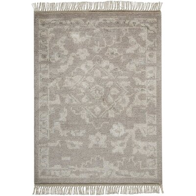 Haddou Hand-Knotted Silver Area Rug Rug Size: Rectangle 23 x 3