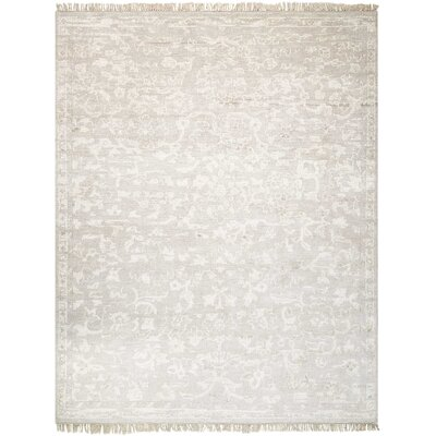 Haddou Hand-Knotted Silver Area Rug Rug Size: Rectangle 79 x 99