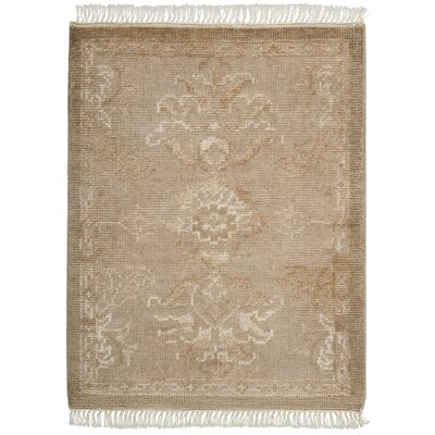 Haddou Hand-Knotted Gold Area Rug Rug Size: Rectangle 23 x 3