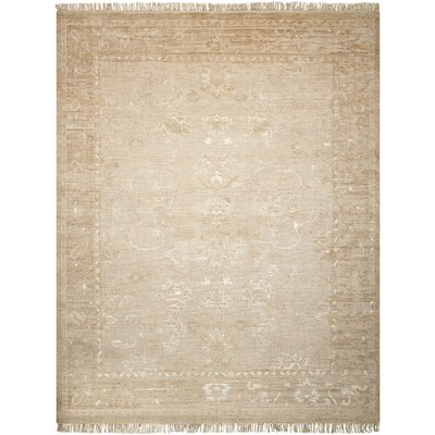 Haddou Hand-Knotted Gold Area Rug Rug Size: Rectangle 79 x 99