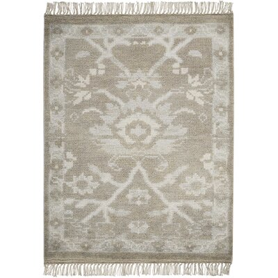 Haddou Hand-Knotted Gray Area Rug Rug Size: Rectangle 23 x 3