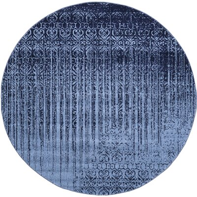Dungan Blue Area Rug Rug Size: Round 3