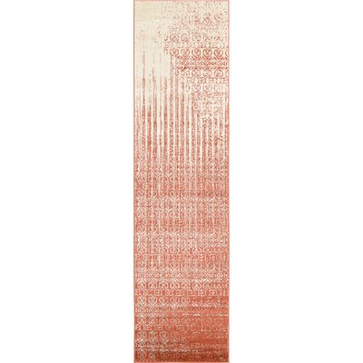 Dungan Red Area Rug Rug Size: Runner 27 x 10