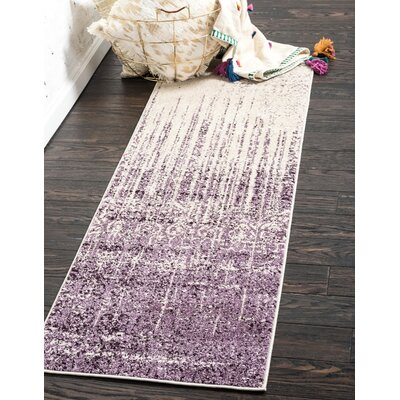 Dungan Purple Area Rug Rug Size: Runner 27 x 10