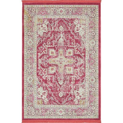 Lonerock European Pink Area Rug Rug Size: Rectangle 84 x 10