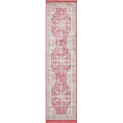 Lonerock European Pink Area Rug Rug Size: Runner 27 x 10