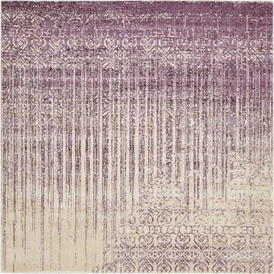Dungan Purple Area Rug Rug Size: Rectangle 8 x 8