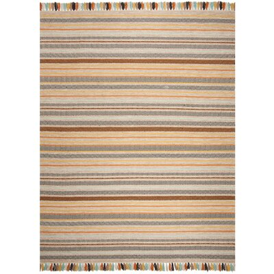 Trenton Hand-Woven Cotton Beige Area Rug Rug Size: Rectangle 8 x 10