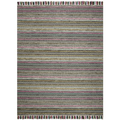 Trenton Hand-Woven Cotton Black Area Rug Rug Size: Rectangle 8 x 10
