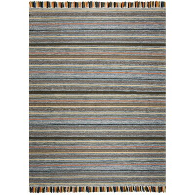 Trenton Hand-Woven Cotton Blue Area Rug Rug Size: Rectangle 8 x 10