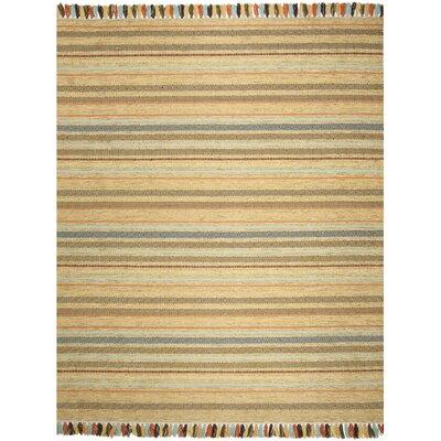 Trenton Hand-Woven Cotton Beige Area Rug Rug Size: Rectangle 8 x 10