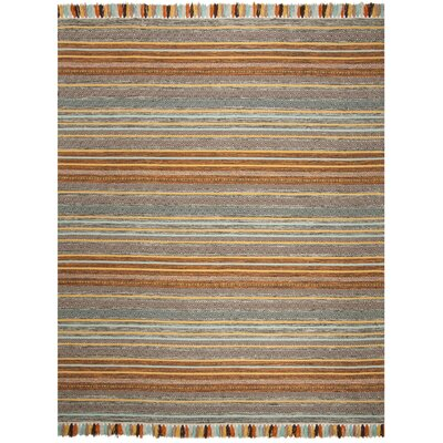 Trenton Hand-Woven Cotton Brown/Gray Area Rug Rug Size: Rectangle 8 x 10