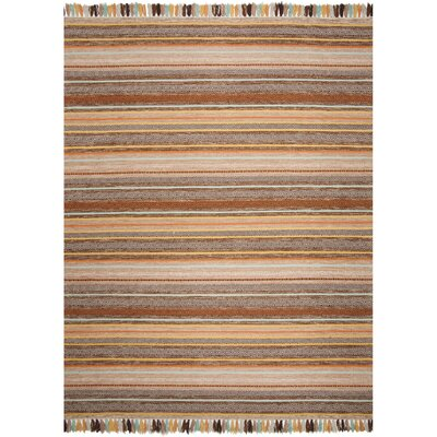 Trenton Hand-Woven Cotton Brown Area Rug Rug Size: Square 6