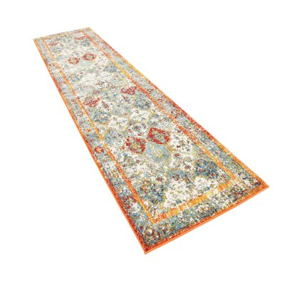 Hartell Stain Resistant Beige Area Rug Rug Size: Runner 27 x 10