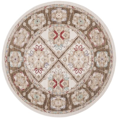 Chauncey Ivory Area Rug Rug Size: Round 6