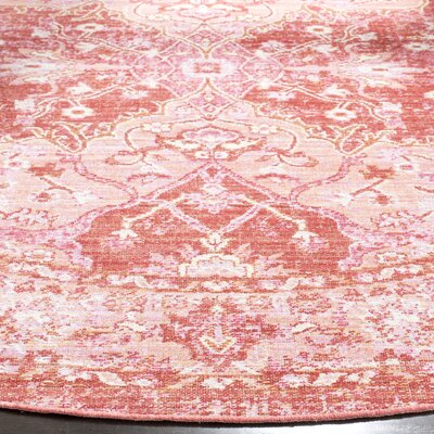 Chauncey Floral Pink Area Rug Rug Size: Rectangle 3' x 12'