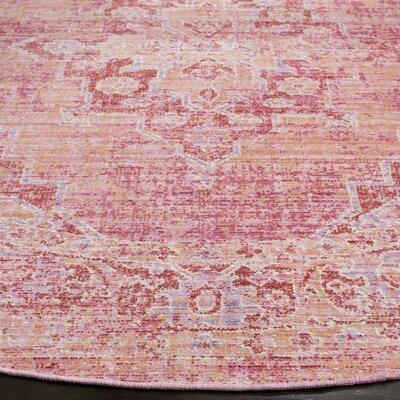 Chauncey Pink Area Rug Rug Size: Rectangle 3 x 5