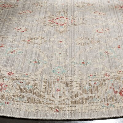 Chauncey Oriental Light Gray Area Rug Rug Size: Rectangle 3 x 10