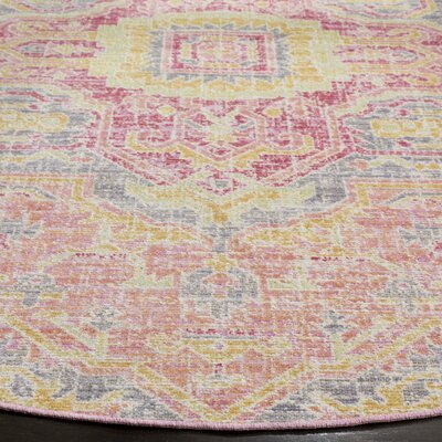 Chauncey Fuchsia Area Rug Rug Size: Rectangle 3 x 12