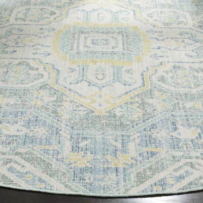 Chauncey Blue Area Rug Rug Size: Rectangle 3 x 5