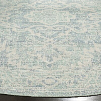 Chauncey Seafoam / Blue Area Rug Rug Size: Rectangle 3 x 8
