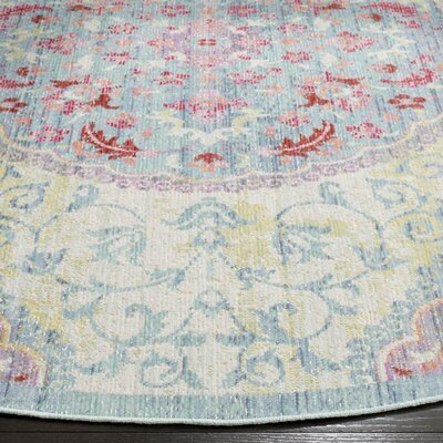 Chauncey Weave Light Gray Area Rug Rug Size: Round 6