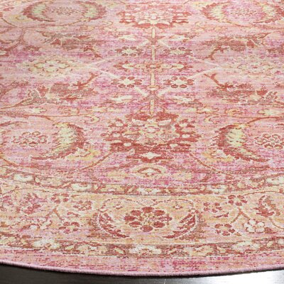 Chauncey Pink Area Rug Rug Size: Rectangle 3 x 12