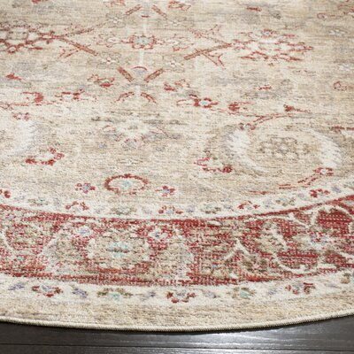 Chauncey Oriental Ivory Area Rug Rug Size: Rectangle 8 x 10