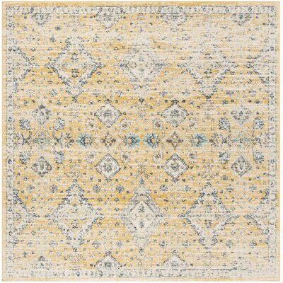 Ameesha Mustard/Ivory Area Rug Rug Size: Square 67