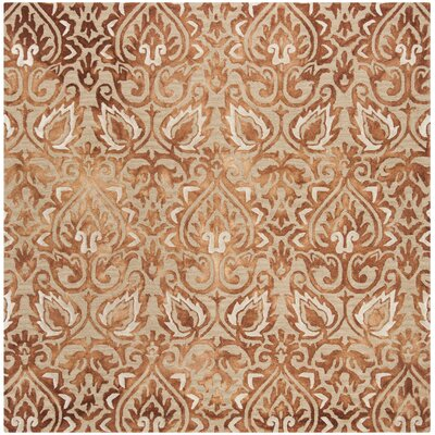 Brennan Hand-Tufted Wool Copper Area Rug Rug Size: Square 7