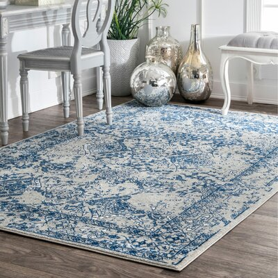 Pittwater Light Blue Area Rug Rug Size: Rectangle 9 x 12