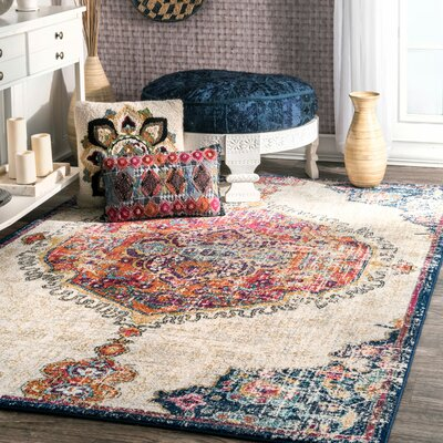 Cearbhall Beige Area Rug Rug Size: Rectangle 8 x 10