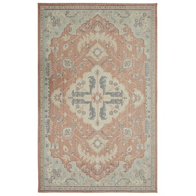 Kavya Aqua/Beige Area Rug Rug Size: Rectangle 5 x 8