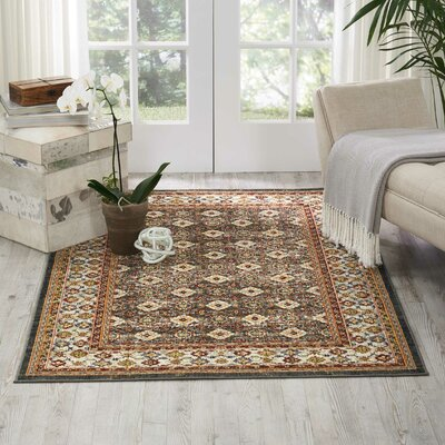 Dover Orange/Beige/Black Area Rug Rug Size: Rectangle 311 x 511