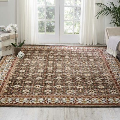 Dover Orange/Beige/Black Area Rug Rug Size: Rectangle 710 x 10