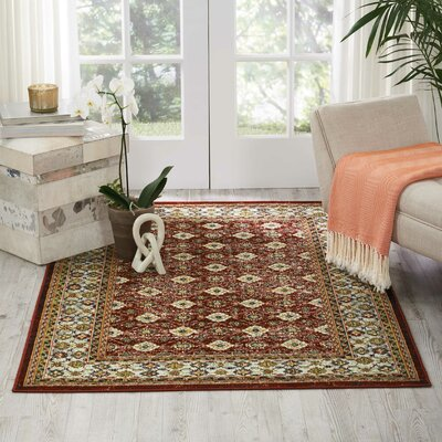 Dover Red/Orange/Green Area Rug Rug Size: Rectangle 311 x 511